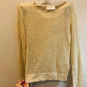 h&m metallic sweater size 6